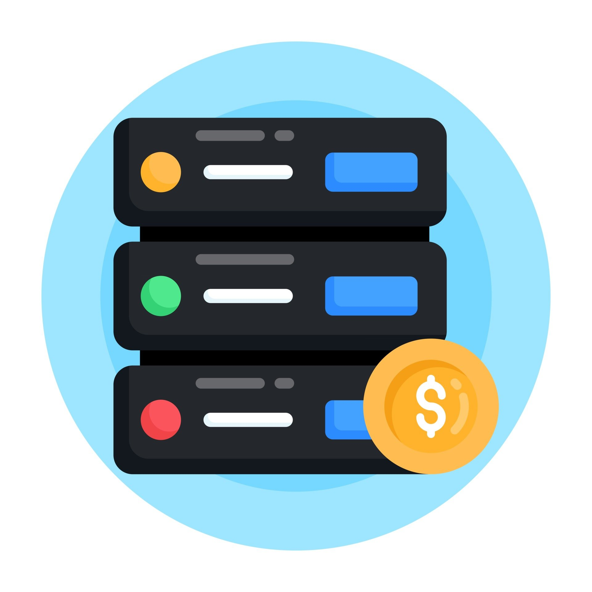 server-hosting-and-payment-vector